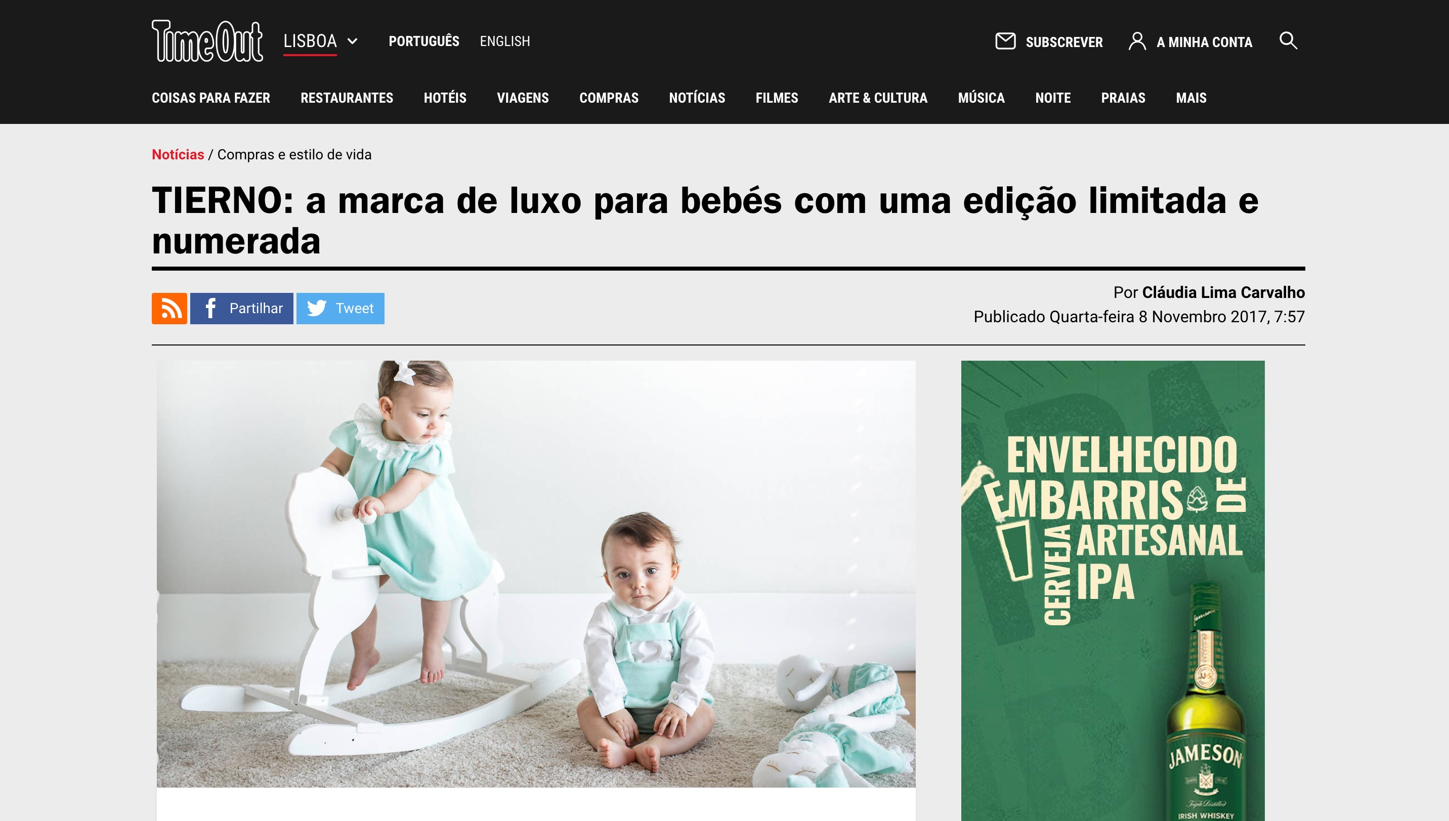 TIERNO LIMITED EDITION IN TIMEOUT LISBOA
